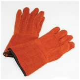 Orange autoclave glove
