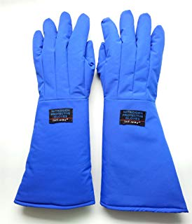 Blue liquid-resistant cryogen gloves