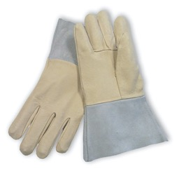 Thick leather welding gloves